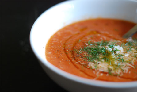 Chilled Tomato Fennel Soup