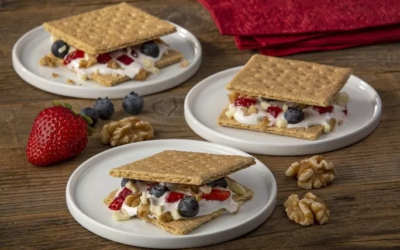 Red, White and Blueberry S'mores