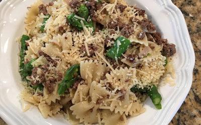 Beef & Asparagus Pasta